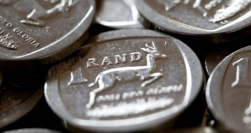 South African rand firms but remains range-bound, stocks fall