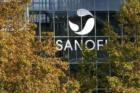 The Sanofi logo is seen at the company's headquarters in Lyon