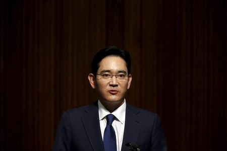 Jay Y. Lee makes a public apology over the spread of the Middle East Respiratory Syndrome (MERS) at Samsung Medical Center, at the company's headquarters in Seoul