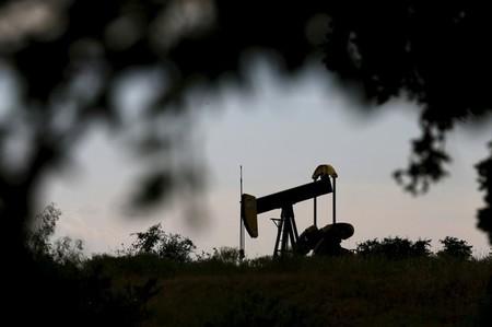 An oil pump jack can be seen in Cisco, Texas