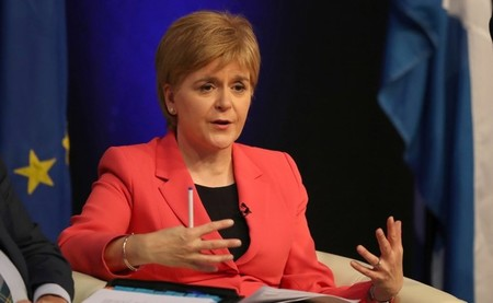 Scotland's First Minister Nicola Sturgeon speaks at the public Question and Answer event with EU nationals living in Scotland, at the Corn Exchange,