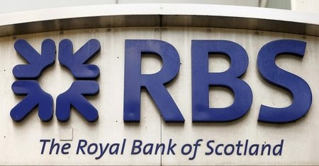 The logo of Royal Bank of Scotland is seen at office building in Zurich