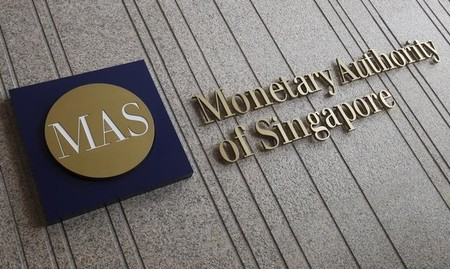File photo of the logo of the Monetary Authority of Singapore at its building in Singapore