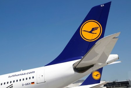 Planes of German air carrier Lufthansa AG are seen on the tarmac at Frankfurt airport in Frankfurt