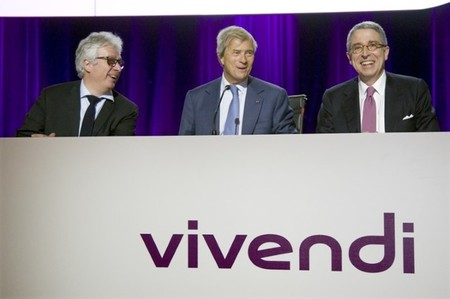 Vincent Bollore, chairman of Vivendi and largest shareholder, attends during the company's shareholders meeting in Paris