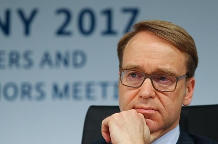 German Bundesbank President Jens Weidmann addresses a news conference at the G20 Finance Ministers and Central Bank Governors Meeting in Baden-Baden