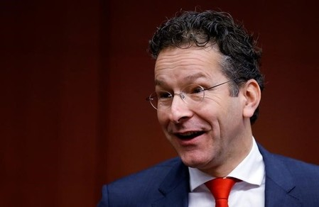 Eurogroup President Dijsselbloem arrives at a euro zone finance ministers meeting in Brussels