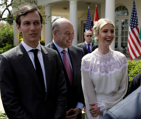 FILE PHOTO - Ivanka Trump and Jared Kushner at the White House in Washington
