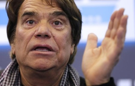 French businessman Tapie attends a news conference for the launching of his web TV at the headquarters of daily newspaper 'La Provence' in Marseille