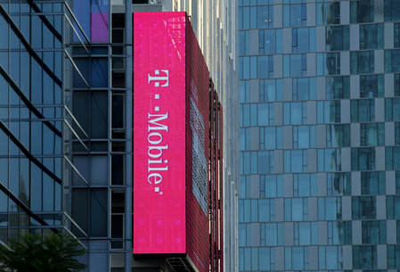 FILE PHOTO -  T-Mobile logo in Los Angeles