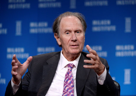 FILE PHOTO - David Bonderman, Founding Partner, TPG, takes part in Private Equity: Rebalancing Risk session during the 2014 Milken Institute Global Conference in Beverly Hills