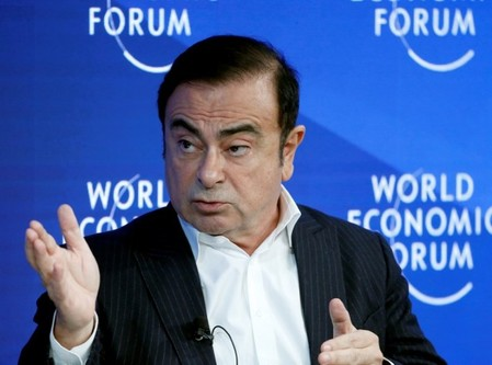FILE PHOTO: Ghosn CEO of Renault-Nissan Alliance attends the WEF annual meeting in Davos