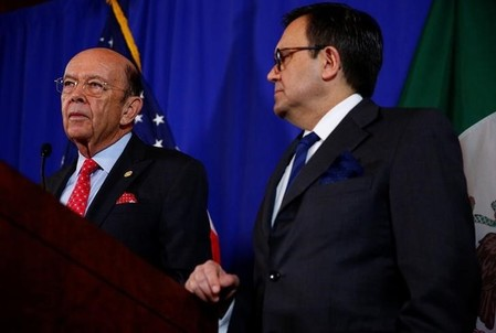 U.S. Commerce Secretary Wilbur Ross holds a news conference with Mexico's Secretary of Economy Ildefonso Guajardo Villarreal at the Department of Commerce in Washington