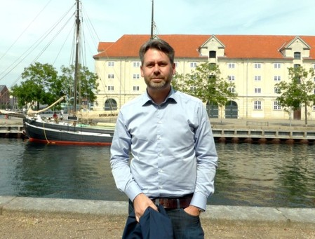 Denmark's tech ambassador Klynge poses for a picture in Copenhagen