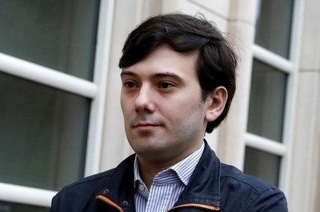 Martin Shkreli, former chief executive officer of Turing Pharmaceuticals and KaloBios Pharmaceuticals Inc, arrives for a hearing at U.S. Federal Court in Brooklyn, New York