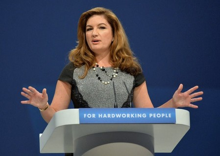 FILE PHOTO: British business woman Karren Brady delivers her speech at the 2013 Conservative party conference in Manchester, northern England