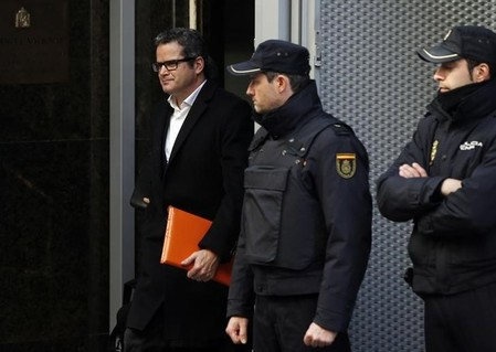 Javier Martin-Artajo leaves Spain's High Court in Madrid