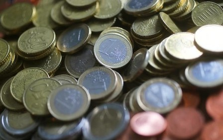 An illustration picture shows euro coins