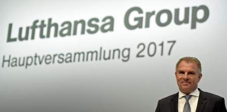 Lufthansa CEO Spohr attends the annual shareholders meeting in Hamburg