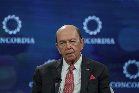 Wilbur Ross,Secretary of the U.S. Department of Commerce, answers a question during the Concordia Summit in Manhattan