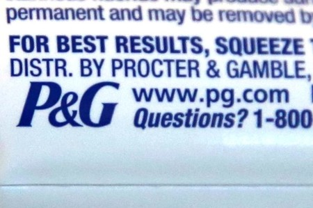 The logo of Dow Jones Industrial Average stock market index listed company Procter & Gamble (PG) is seen on a tube of toothpaste in Los Angeles