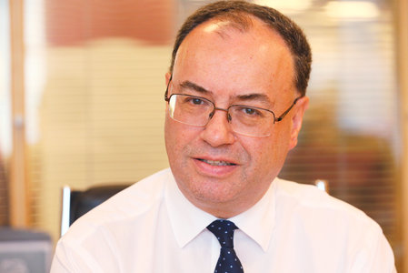 Andrew Bailey, chief executive of the Financial Conduct Authority, speaks at his office in London