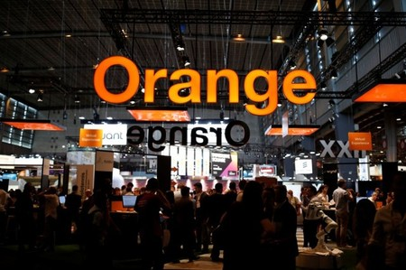 Attendees visit the Orange workshop at the Viva Technology conference in Paris