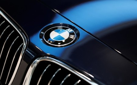 FILE PHOTO: BMW logo is pictured before news conference of German premium automaker BMW in Munich