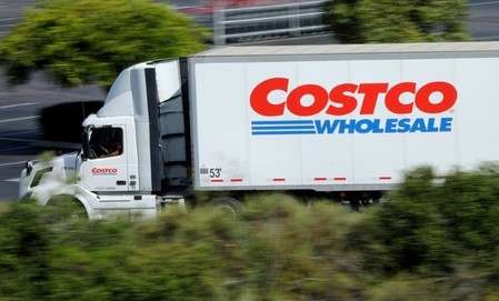 FILE PHOTO: A Costco truck makes a delivery to a Costco store in Carlsbad, California
