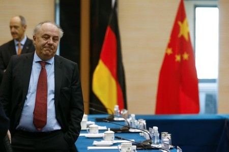 Machnig attends a meeting with Chinese counterparts in Beijing