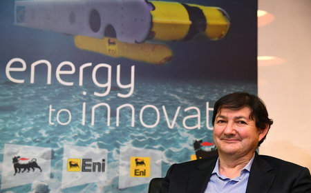 Eni's Chief Exploration Officer Luca Bertelli poses at the headquarters in San Donato near Milan