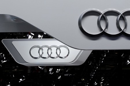 FILE PHOTO: The logo of Audi is pictured at the Auto China 2016 auto show in Beijing