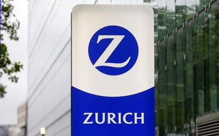 Logo of Swiss company Zurich insurance is seen in Zurich's Oerlikon suburb