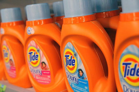 FILE PHOTO: Procter & Gamble's Tide is seen in a store in Manhattan,