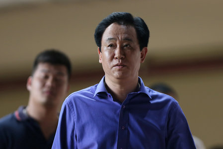 FILE PHOTO: Xu Jiayin of Evergrande is seen in Guangzhou