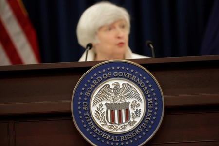 FILE PHOTO: Federal Reserve Chairman Janet Yellen speaks during a news conference in Washington