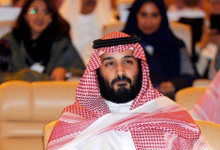 FILE PHOTO - Saudi Crown Prince Mohammed bin Salman, attends the Future Investment Initiative conference in Riyadh