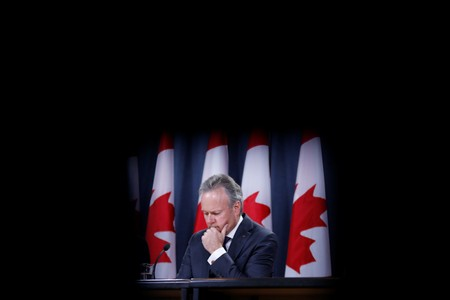 Bank of Canada Governor Stephen Poloz attends a news conference in Ottawa