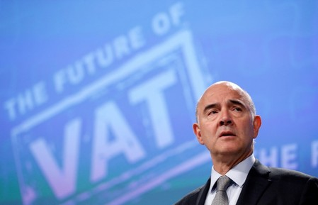 EU Economic and Financial Affairs Commissioner Moscovici presents a VAT reform proposal  in Brussels.