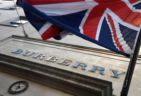 The exterior of a Burberry store is seen in central London, Britain
