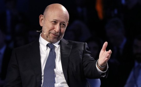 Goldman Sachs Chairman and CEO Blankfein speaks at the Bloomberg Global Business Forum in New York