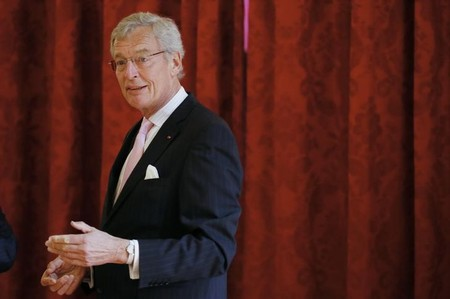 Gerhard Cromme, Chairman of the Supervisory Board of Siemens AG, attends a meeting with a group of International CEO's during a Strategic Attractiveness Council at the Elysee Palace in Paris