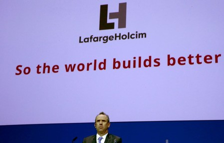 CEO Olsen of Franco-Swiss cement giant LafargeHolcim attends the company's annual shareholder meeting in Zurich