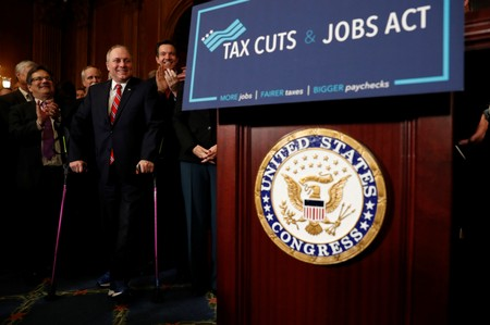 House Majority Whip Rep. Steve Scalise (R-LA) looks on during a news conference announcing the passage of the