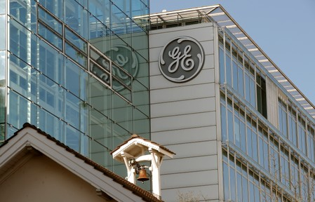 Logo of General Electric is seen in Baden