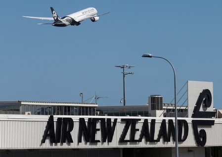 FILE PHOTO: An Air New Zealand Boeing Dreamliner 787 takes off from Auckland Airport in New Zealand