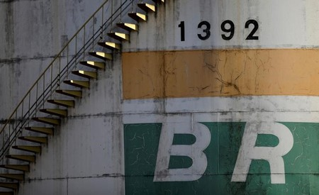 A tank of Brazil's state-run Petrobras oil company is seen in Brasilia