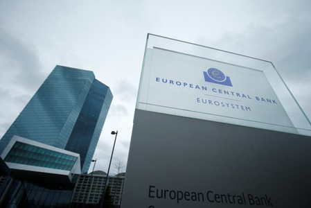 The European Central Bank headquarters are pictured in Frankfurt