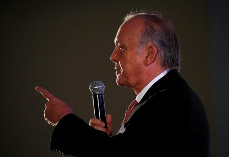 Shoprite Holdings Chairman Christo Wiese speaks as Shoprite reported it's results in Cape Town