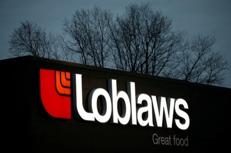 A sign is pictured outside a Loblaw supermarket in Ottawa